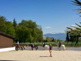 horseriding lesson for kids on ponys at the begnins riding school